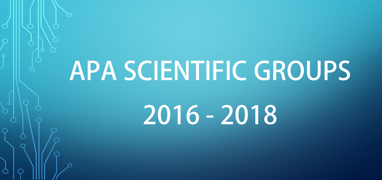 SCIENTIFIC GROUPS 2016 2018